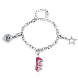 Bracelet Charm LOL Logo