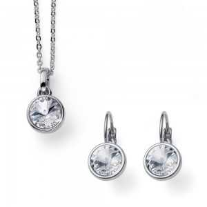 Young Set Rhodium Necklace...