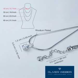 True Set Rhodium Necklace...