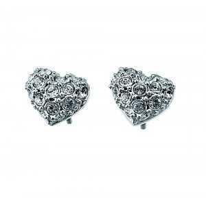 Post earring Full Heart