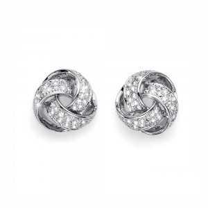 Post earring Knot