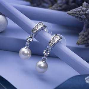 Post earring Silk