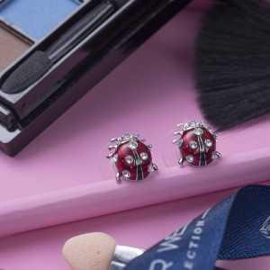 Post Earrings Ladybugini