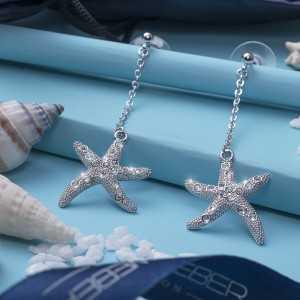 Post earring Starfish2